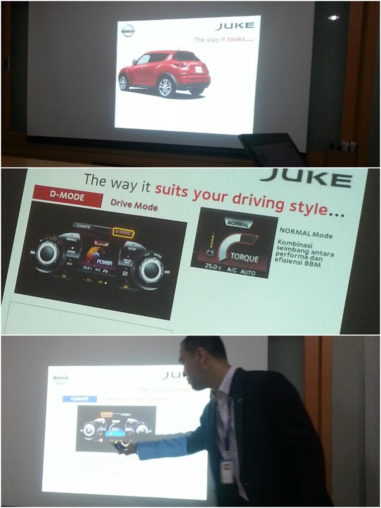 Mas David presentasi soal Nissan Juke